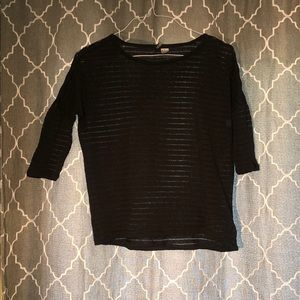 H & M | sheer striped tee
